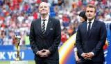 FIFA boss, French President booed at World Cup final ceremony